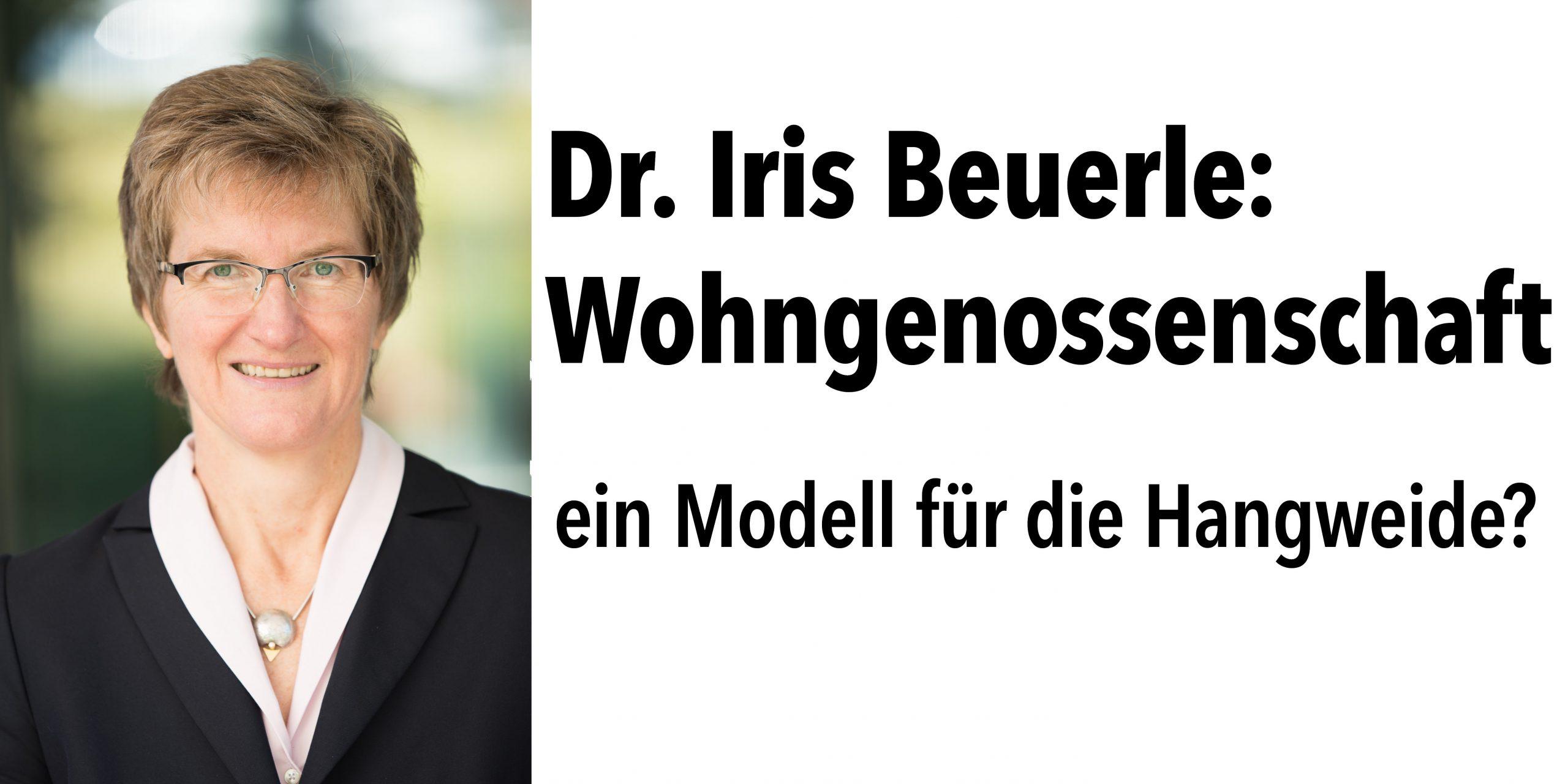 Vortrag Iris Beuerle am 22.1.: Wohngenossenschaften