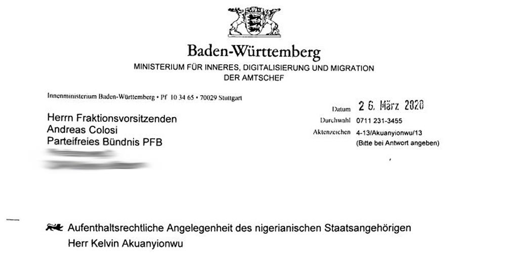 Pressemitteilung Parteifreies Bündnis PFB: Amtlicher Zynismus